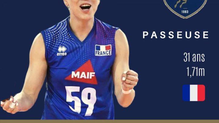 DEF : Mallory Caleyron – Steux, loin des projecteurs mais elle rayonne toujours sur le terrain du Levallois Sporting Club Volley.